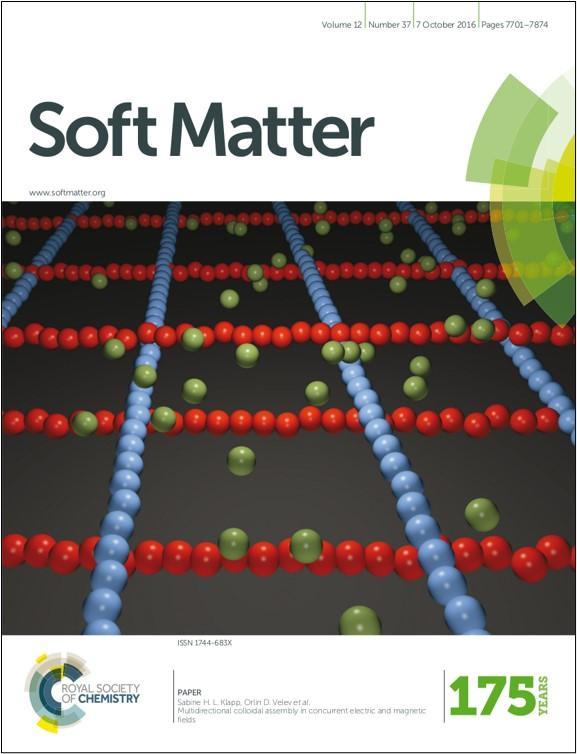 Soft Matter 2016 Cover